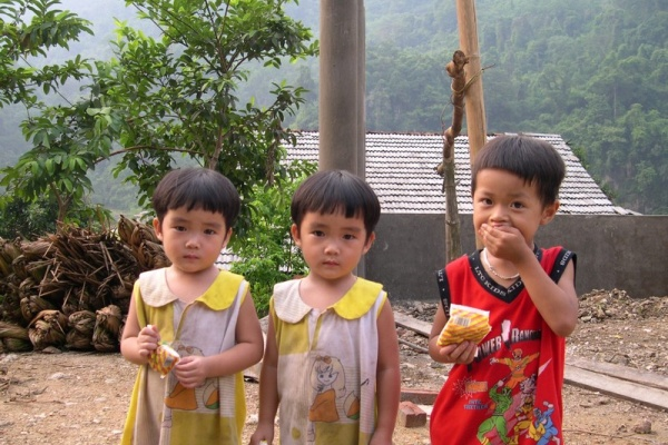 children in Ha Giang province